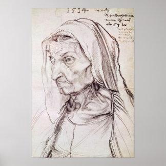Retrato de la madre del artista, 1514 posters