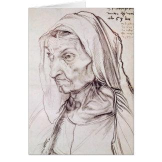 Retrato de la madre del artista, 1514 tarjetón