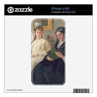 Retrato de la madre y de la hermana del artista calcomanías para el iPhone 4S