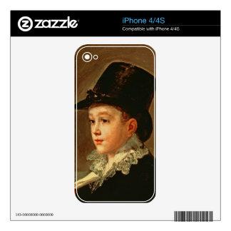 Retrato de la madre y de la hermana del artista iPhone 4S skin