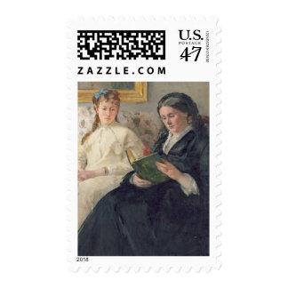 Retrato de la madre y de la hermana del artista timbre postal