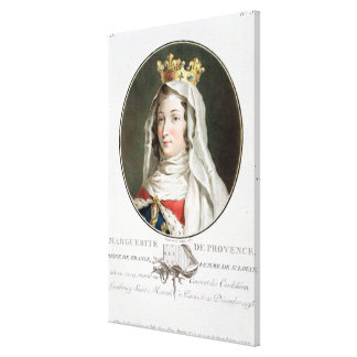Retrato de la margarita de Provence (1219-95), 178 Impresion De Lienzo