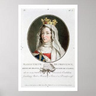 Retrato de la margarita de Provence (1219-95), 178 Póster