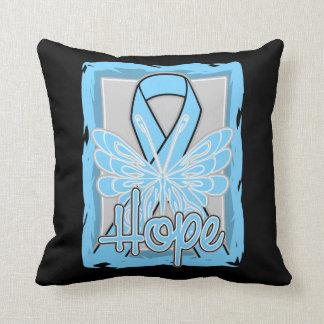 Retrato de la mariposa de la esperanza del cáncer almohada