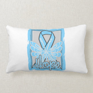 Retrato de la mariposa de la esperanza del cáncer almohadas
