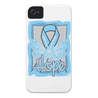 Retrato de la mariposa de la esperanza del cáncer iPhone 4 Case-Mate carcasa