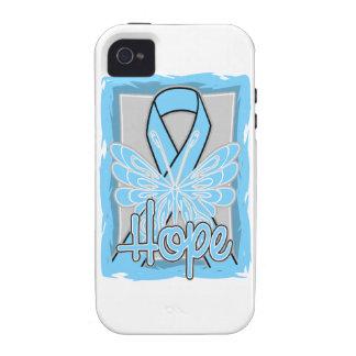 Retrato de la mariposa de la esperanza del cáncer iPhone 4/4S carcasas