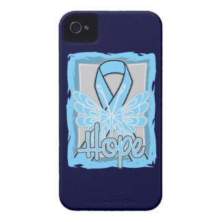 Retrato de la mariposa de la esperanza del cáncer iPhone 4 carcasa
