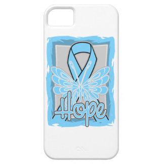 Retrato de la mariposa de la esperanza del cáncer iPhone 5 protector