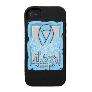 Retrato de la mariposa de la esperanza del cáncer vibe iPhone 4 carcasa