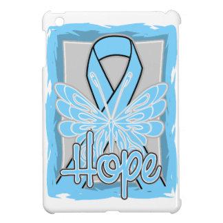 Retrato de la mariposa de la esperanza del cáncer iPad mini cobertura