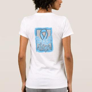 Retrato de la mariposa de la esperanza del cáncer camisetas