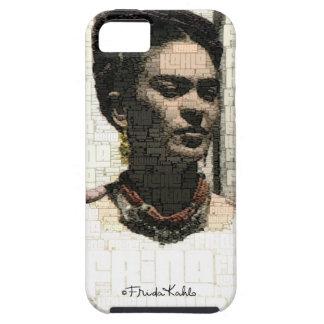 Retrato de la materia textil de Frida Kahlo iPhone 5 Case-Mate Cárcasas