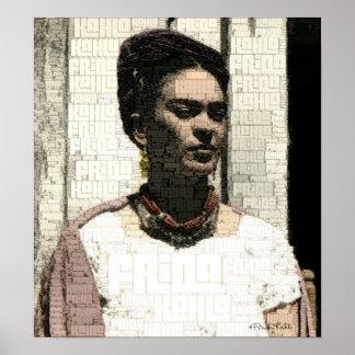 Retrato de la materia textil de Frida Kahlo Impresiones