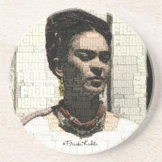 Retrato de la materia textil de Frida Kahlo Posavasos Personalizados