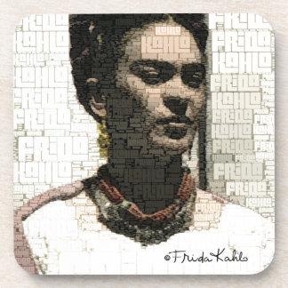 Retrato de la materia textil de Frida Kahlo Posavasos