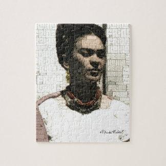 Retrato de la materia textil de Frida Kahlo Puzzle