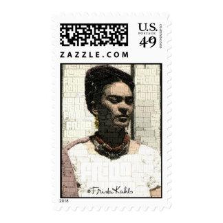 Retrato de la materia textil de Frida Kahlo Sello