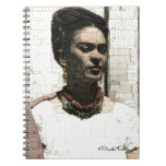 Retrato de la materia textil de Frida Kahlo Spiral Notebook