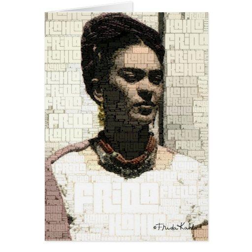 Retrato de la materia textil de Frida Kahlo Tarjetón
