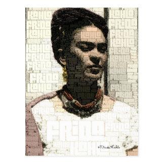 Retrato de la materia textil de Frida Kahlo Postal