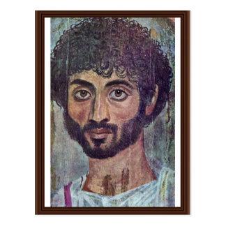 Retrato de la momia de Fayum por de Römisch-Ägypti Tarjeta Postal