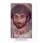 Retrato de la momia de Fayum por el amo Romano-Egi Tarjetas Postales