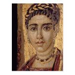 Retrato de la momia de una mujer, de Fayum, Postal