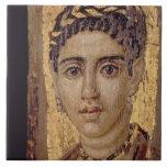 Retrato de la momia de una mujer, de Fayum, Romano Tejas