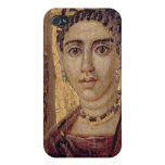 Retrato de la momia de una mujer, de Fayum, Romano iPhone 4/4S Carcasa