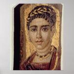 Retrato de la momia de una mujer, de Fayum, Romano Póster