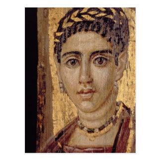 Retrato de la momia de una mujer, de Fayum, Romano Tarjeta Postal