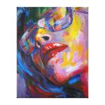 retrato de la mujer con la lente impresión en lona