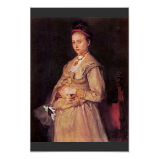 Retrato de la mujer Gedon de Leibl Wilhelm Posters
