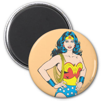 Retrato de la Mujer Maravilla Imán Redondo 5 Cm
