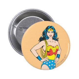 Retrato de la Mujer Maravilla Pin Redondo 5 Cm