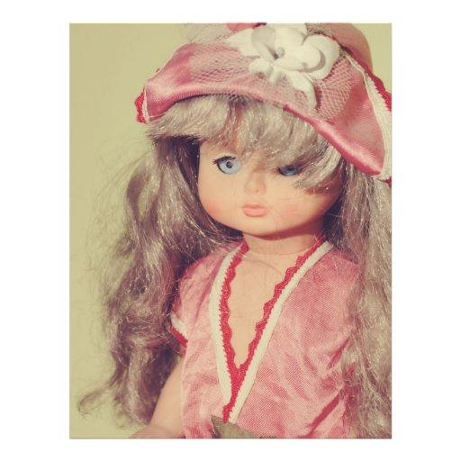Retrato de la muñeca tarjeton