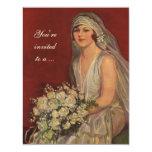 Retrato de la novia del Victorian del vintage, Comunicados