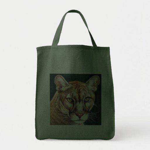Retrato de la pantera bolsa lienzo