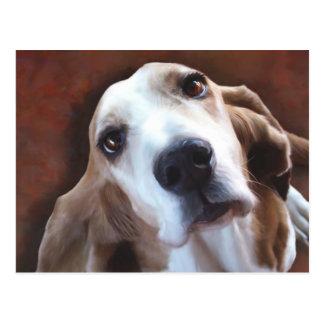 Retrato de la pintura de la bella arte de Basset Postales