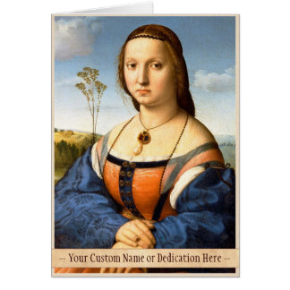 Retrato de la pintura de Raphael Santi de Magdalen Tarjeta Pequeña