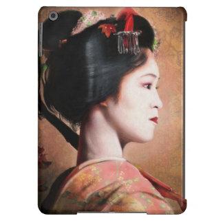 Retrato de la pintura digital del geisha hermoso