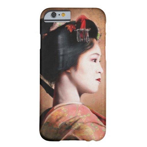 Retrato de la pintura hermosa del geisha funda de iPhone 6 barely there