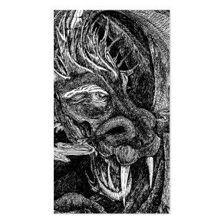 Retrato de la plantilla de la tarjeta de visita de