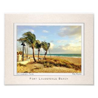 Retrato de la playa del Fort Lauderdale Cojinete