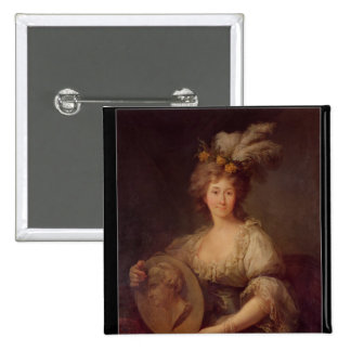 Retrato de la princesa de Anne Biron de Courland Pin Cuadrado
