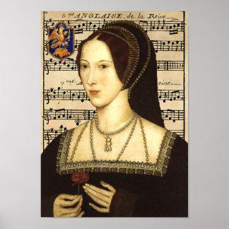 Retrato de la reina Ana Bolena Posters
