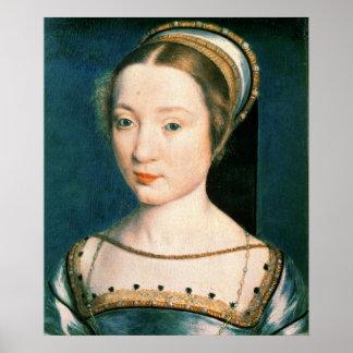 Retrato de la reina Claude Póster