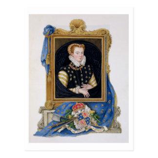 Retrato de la reina de Maria de escocés (1542-87)  Tarjetas Postales