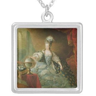 Retrato de la reina de Marie Antonieta de Francia Collar Plateado